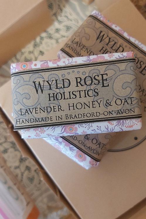 Artisan Handmade Soap- Lavender, Honey and Oat- 50g
