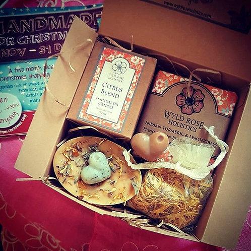 Luxury Bespoke Aromatherapy Gift Box-  Indian Turmeric and Lemongrass Gift Box