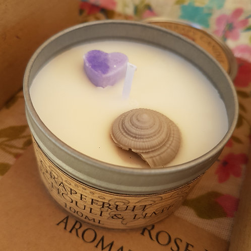 Eco-Soy Natural Plant Wax Candle- White Grapefruit and Patchouli-100ml