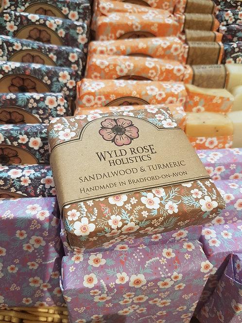 Sandalwood and Turmeric-Artisan Handmade Soap 100g