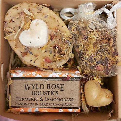 Bespoke Rustic Gift box- Indian Turmeric and Lemongrass