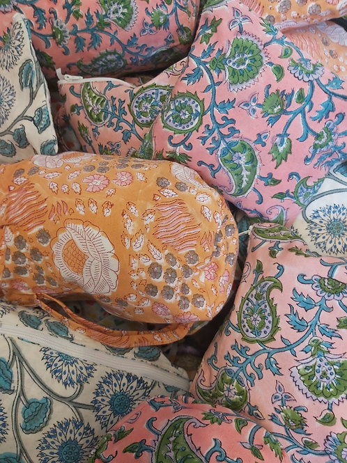Traditional Jaipur Toiletry Bolster Bags
