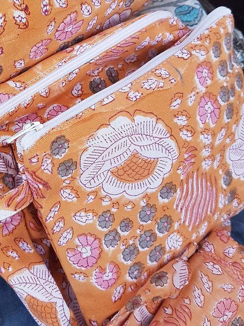 Traditional Handbag Tidies- Indian Block Print
