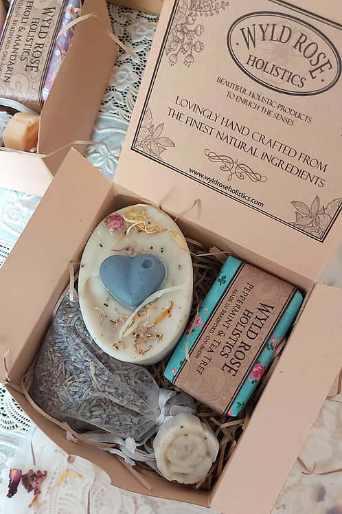 Bespoke Rustic Gift Box- Peppermint and Tea Tree