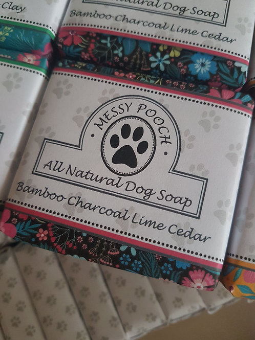 Dog Shampoo and Conditioner- Bamboo Charcoal, Lime Cedar - 100g