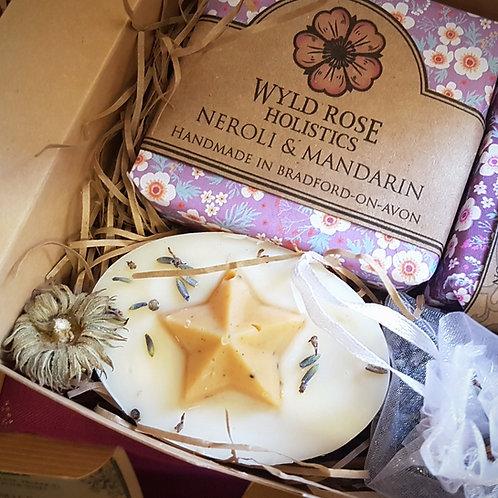 Bespoke Rustic Artisan Gift Box- Neroli and Red Mandarin