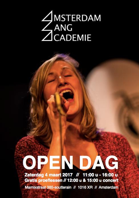Open Dag 4 maart Amsterdam Zang Academie
