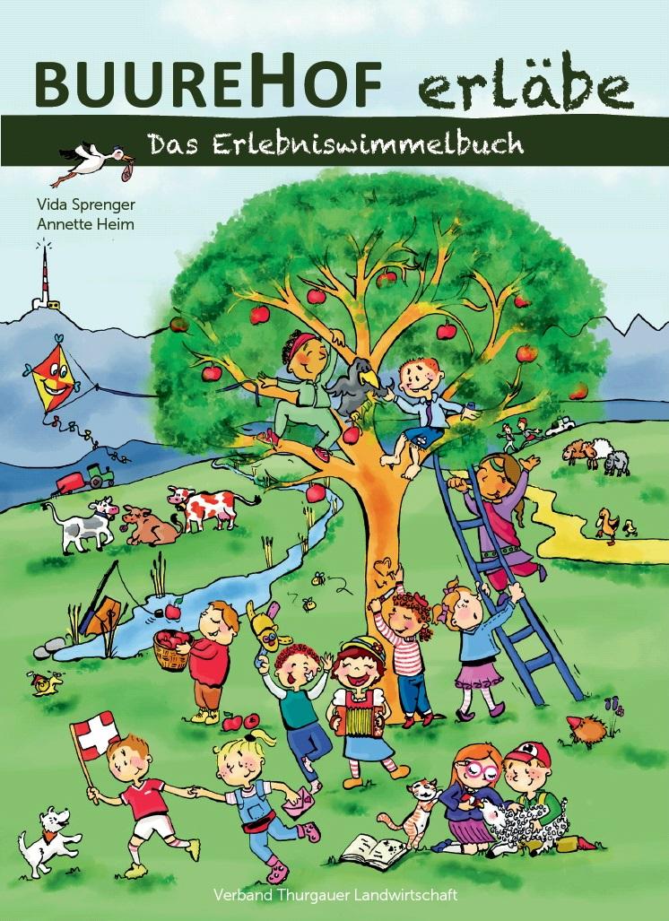 Titelbild Buurehof erläbe, Illustratorin Vida Sprenger vidART.ch