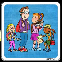 Kinderrechte Memo-Karte, Illustratorin Vida Sprenger, vidART.ch