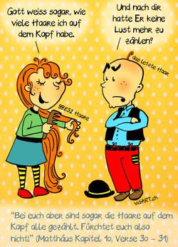 Comic Haare, Illustratorin Vida Sprenger vidART.ch