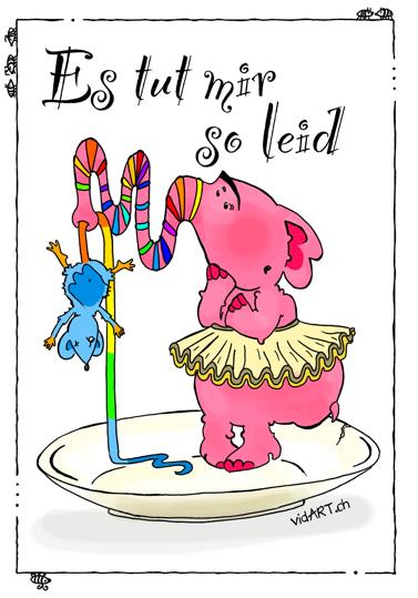"""Titelbild Kinderbuch """"Es tut mir so Leid"""" Illustratorin Vida Sprenger, vidART.ch"""