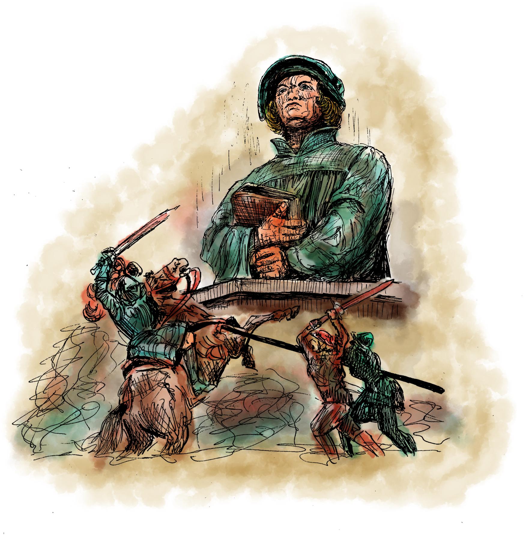 Zwingli Reformator Illustratorin Vida Sprenger, VidART.ch