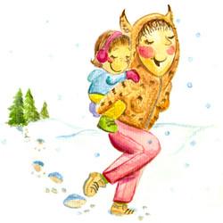 Ruckepack, Mami und Tochter, Ilustratorin Vida Sprenger vidART.ch