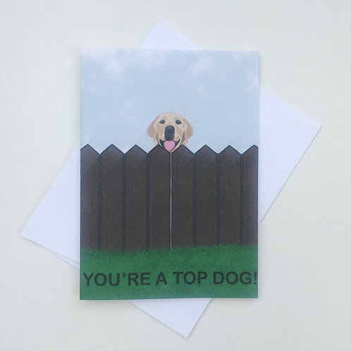 Father's Day Card - You're A Top Dog