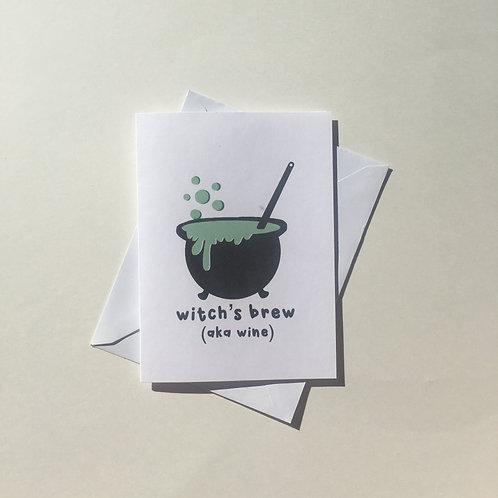 Witch's Brew (aka wine) Card