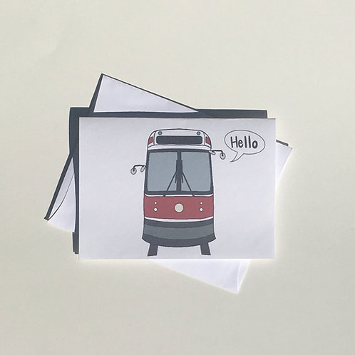 Hello From Toronto/Street Car Card