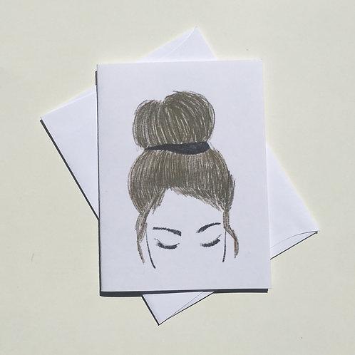 Girl Portrait Card