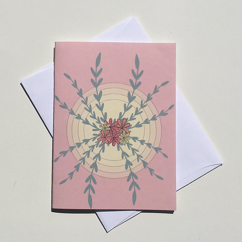 Floral Sunset Card