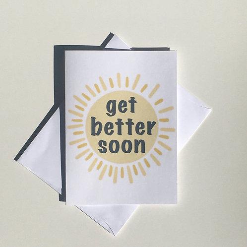 Get Better Soon Sun Card