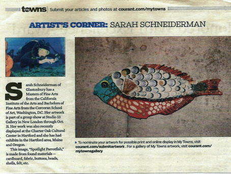 The Hartford Courant  --  October 26, 2014: Artist's corner