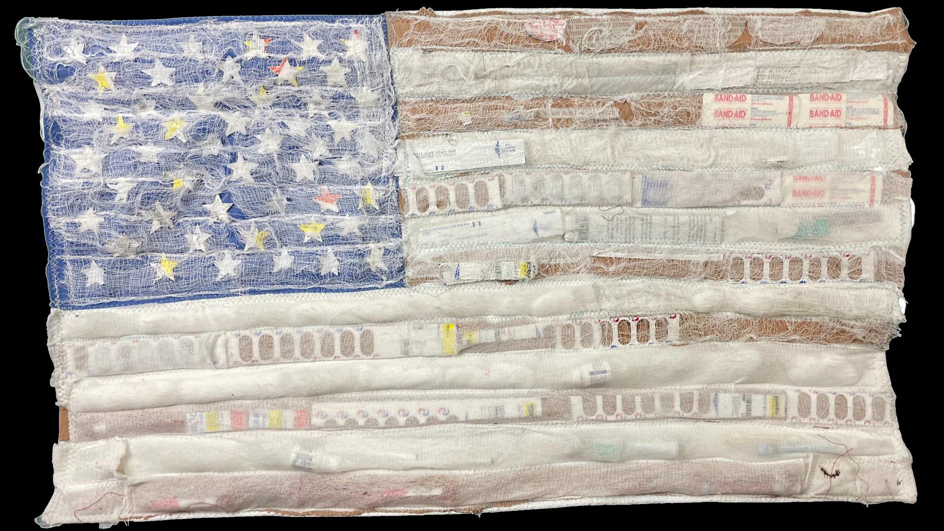 American Flag Medical Debris 2 - Front -