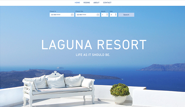 Hotels & Pensionen website templates – Laguna-Resort