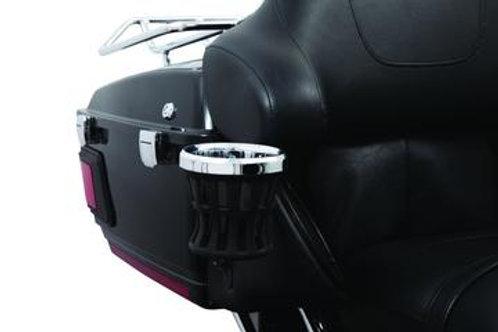 Ciro Chrome 14-UP Harley Passenger Mount Drink Holder