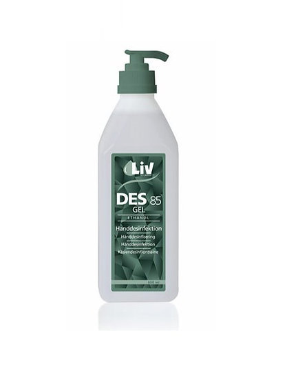 LIV Handdesingektion Gel 85  - 600 ml