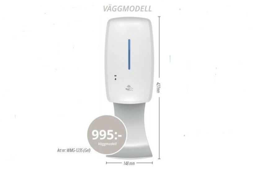 Handspritsstation - Väggmodell