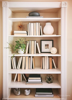 Bookcase- After staging