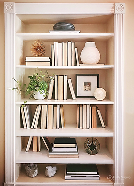 northern Virginia bookcase after professional home stagingd