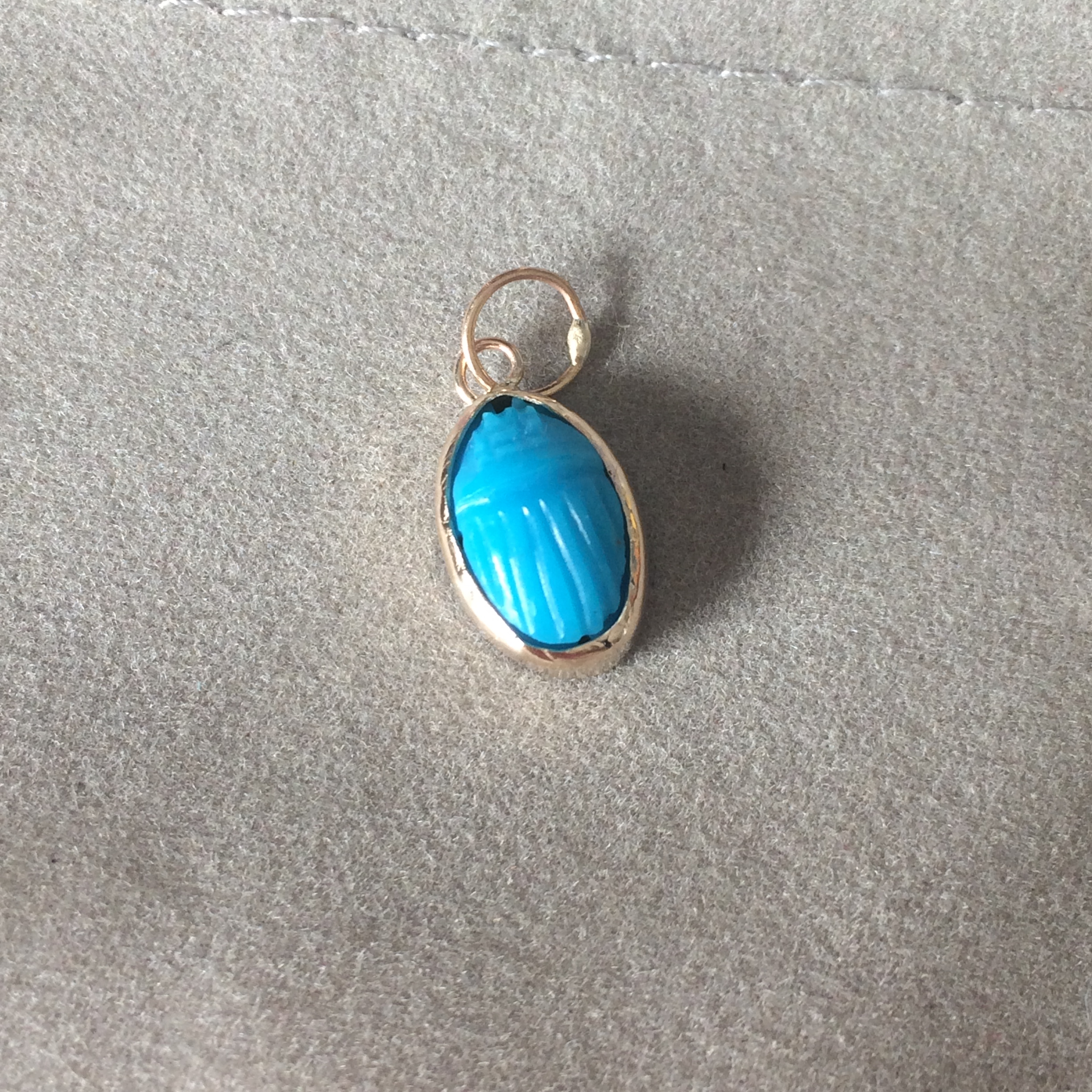 turquoise scarab in gold
