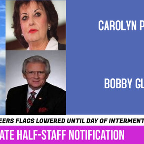 Governor orders flags to half staff to honor pair of former State Representatives who died last week
