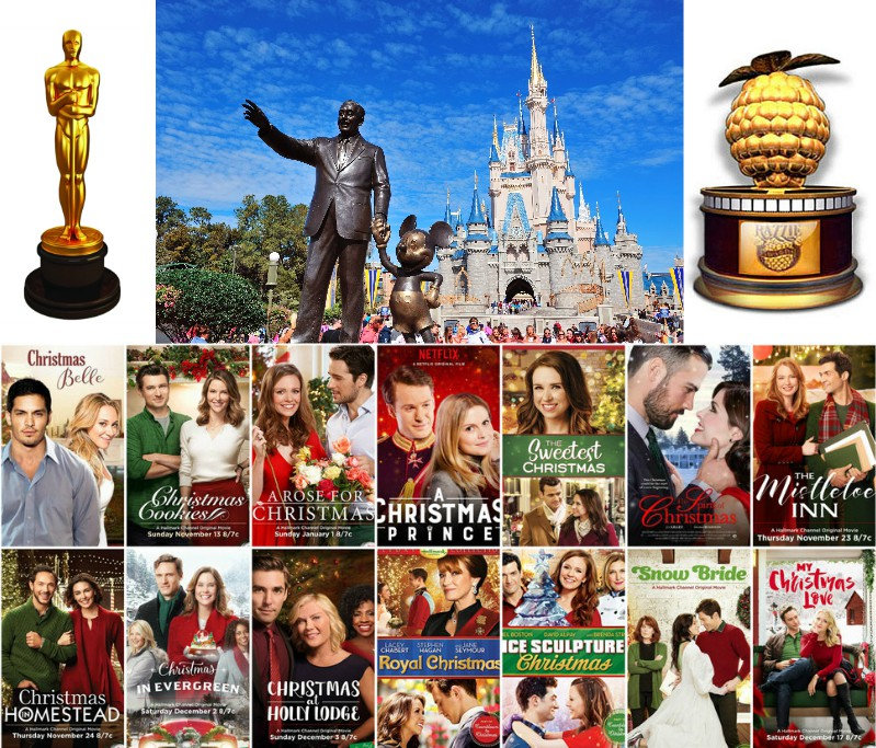oscars, razzie, award, statue, walt, disney, world, magic, kingdom, made, for, tv, movie, christmas, belle, cookies, rose, for, prince, sweetest, mistletoe, inn, homestead, evergreen, holly, lodge, royal, ice, sculpture, snow, bride, love