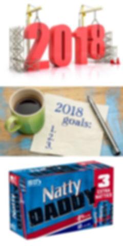 2018, resolutions, goals, list, to d, natty, light, natural, daddy, 15, pack