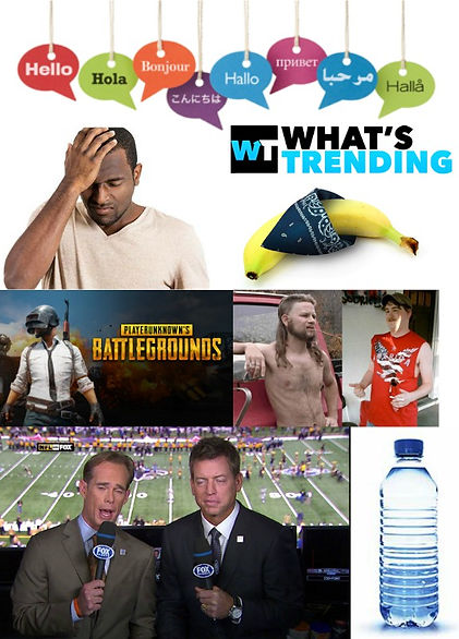 hello, languages, different, sad, man, cuckold, what's, trending, banana, bandana, pubg, player, unknown, batleground, redneck, meme, troy, aikmen, joe, buck, bottled, water, sports, comedy, podcast