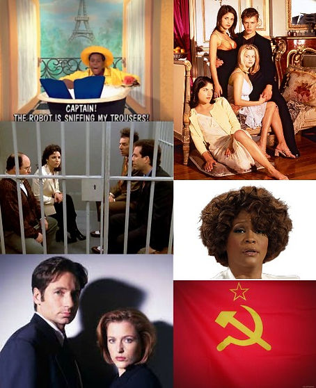 saved, by, the, 90s, trivia, game, Kenan, Thompson, Pierre, Escargot, all, that, show, cruel, intentions, seinfeld, jail, last, episode, whitney, houston, x files, fox, mulder, dana, scully, soviet,union, ussr, flag, hammer, sickle