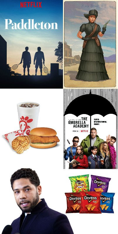 spring, cleaning, paddleton, netflix, red, dead, redemption, 2, cigarette, card, black, belle, chick fil a, umbrella academy, jussie, smollett, doritos