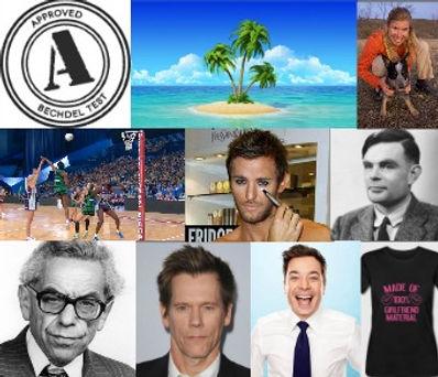 bechdel test, island, netball, metrosexual, alan turing, paul erdos, kevin bacon, Christie Aschwanden, jimmy fallon, girlfriend material