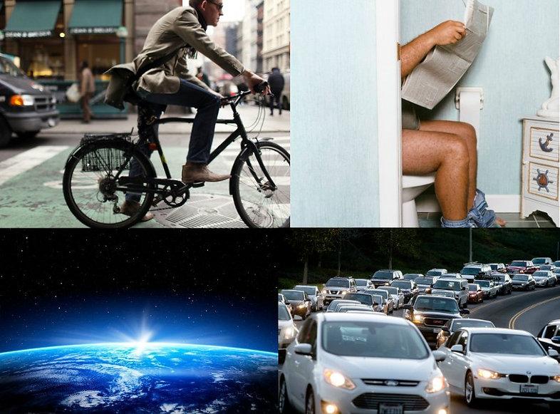 road, rage, bike, bicyle, man, no, helmet, street, toilet, shitting, door, open, space, traffic