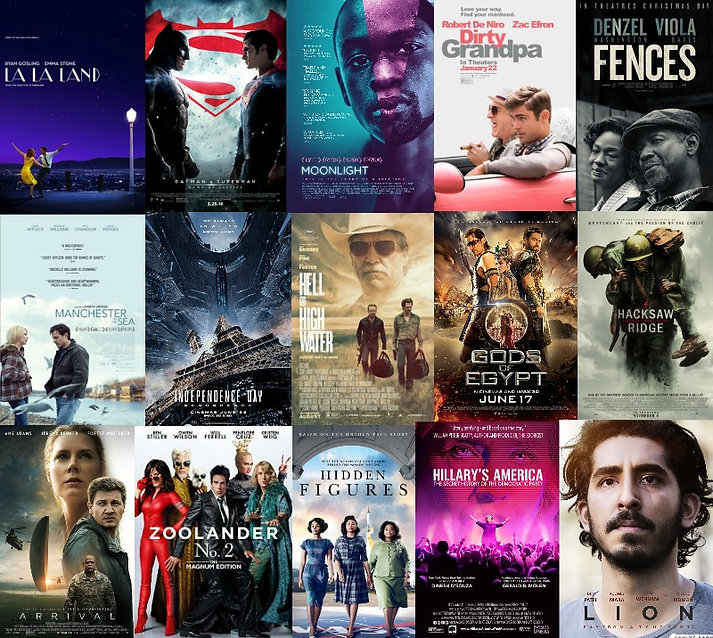 la la land batman vs superman moonlight dirty grandpa fences manchester by the sea independence day 2 hell or high water gods of egypt hacksaw ridge arrival zoolander 2 hidden figures hillary's america lion Prestige Worldwide The Podcast