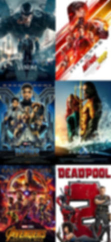 superhero, movie, poster, venom, ant-man,wasp, black, panther, aquaman, avenger, infinity, war, deadpool, 2