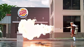 commercial, burger, king, flame, thrower, burger, grill