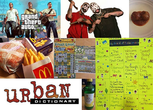 grand, theft, auto, insane, clown, posse, spicy, meatball, mcdonalds, hamburger, burger, french, fries, mcnugget, lottery, tickets, urban, dictionary, logo, lemon, juice, awesome, shit, board, punishments, podcast