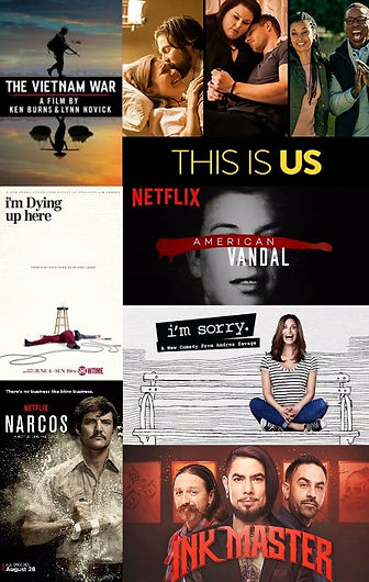 vietnam war, this is us, i'm dying up her, american vandal, narcos, i'm sorry, ink master, comedy, podcast, prestige worldwide, best, top, free, stream