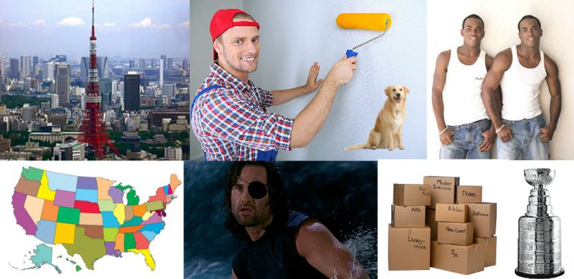 tokyo, painting, painter, dog, golden, retriever, twin, twins, black, men, usa, states, map, snake, kurt, russell, move, moving, boxes, stanley, cup, comedy, podcast, top, free, best