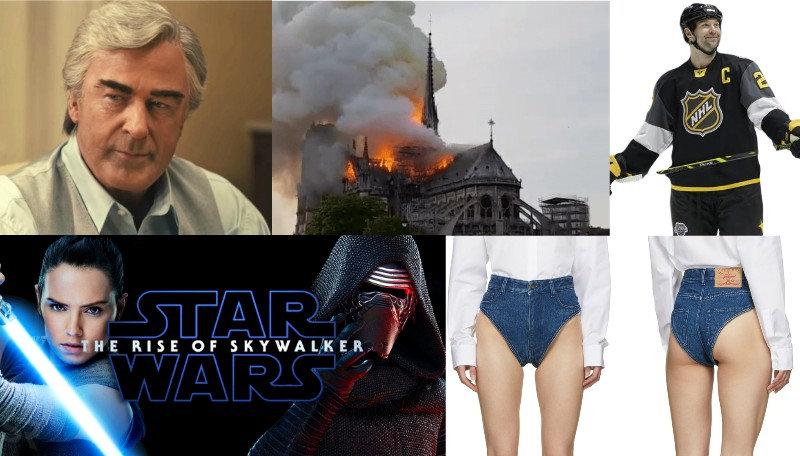 janties, alec, baldwin, john, delorean, framing, movie, john, scott, nhl, all, star, wars, rise, skywalker, notre, dame, burning, fire
