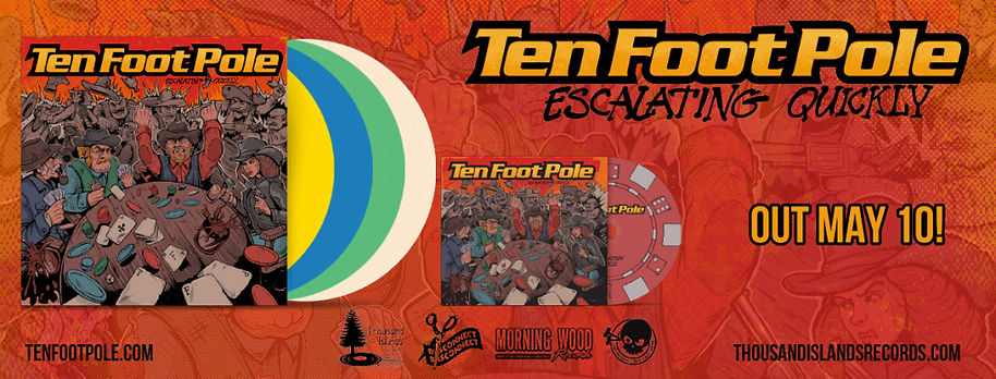 ten, foot, pole, escalating, quickly, album, preorder, thousand, island, records, vinyl, dennis, denny, jagard, pop, punk, skate, music