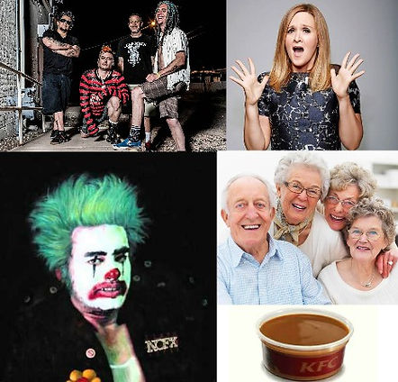 nofx, cokie, clown, samantha, bee, old, people, kfc, gravy, comedy, podcast
