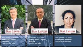 3 abogados de RLD incluidos en el ránking internacional BEST LAWYERS 2021 España